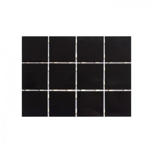 Pastilha Cerâmica Black 10x10cm