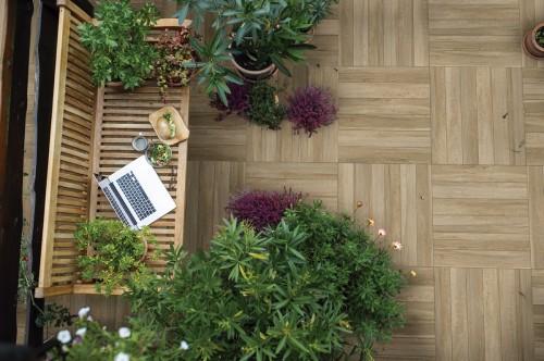 Piso Cerâmico Cejatel tipo Deck Varandas externo, PEI 4 ,60x60 Retif.