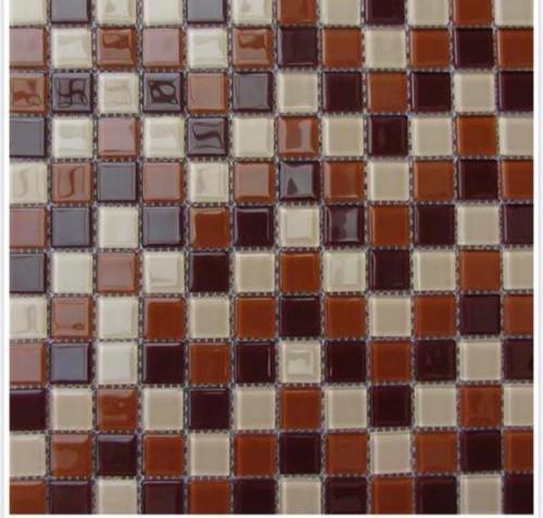 Pastilha 30X30 -10079 Vidro mesclado marrom e bege