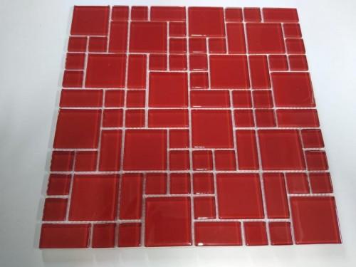 Pastilha 30X30 Vidro Vermelho dual